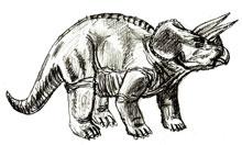 Рисунки животных - Динозавр