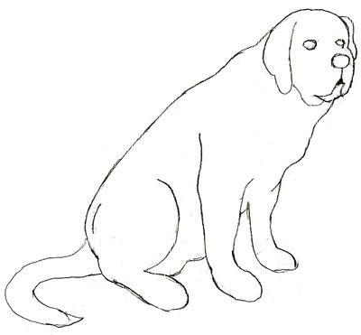 Как рисовать собаку поэтапно, шаг 4