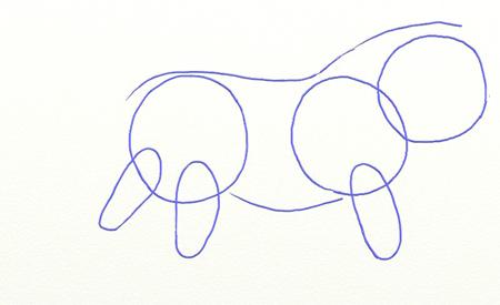 Как нарисовать льва, шаг 2