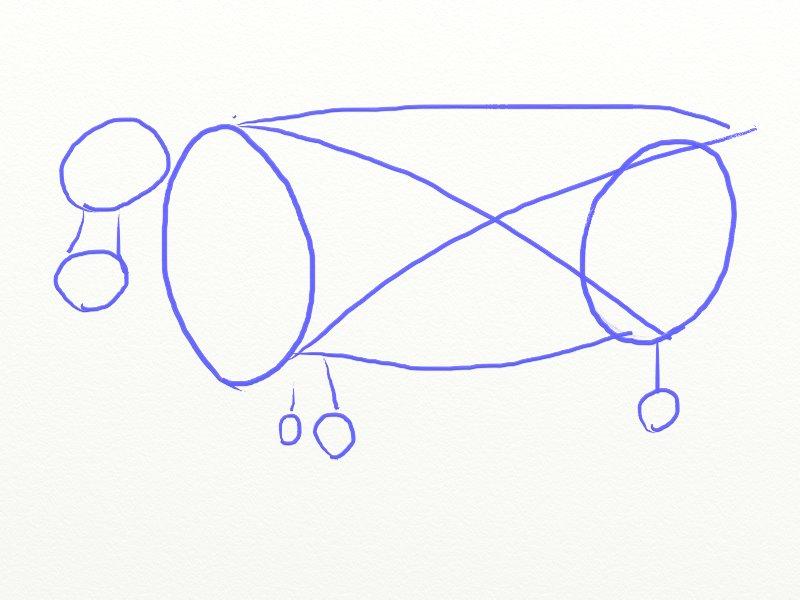 Как нарисовать корову, шаг 3