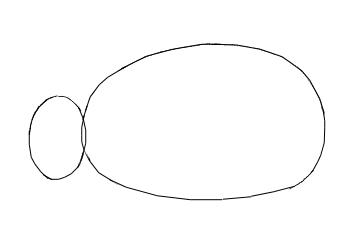Как нарисовать ежика, шаг 1