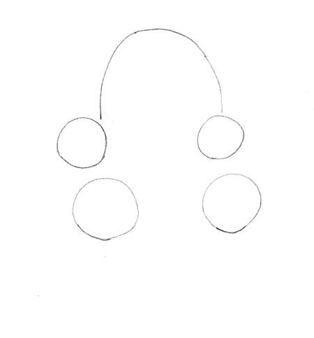 Как нарисовать панду, шаг 1