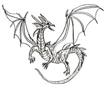 Рисунки животных - Дракон