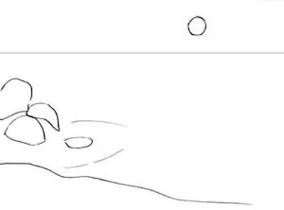 Как рисовать море, шаг 1