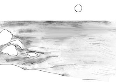 Как рисовать море, шаг 3