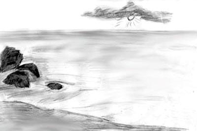 Как рисовать море, шаг 4