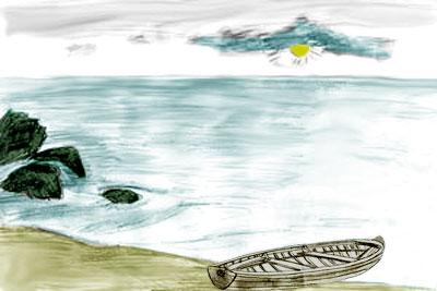 Как рисовать море поэтапно
