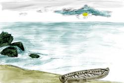 Рисуем Море карандашом
