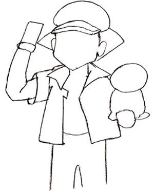 Как нарисовать аниме, шаг 3