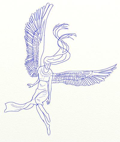 Как нарисовать ангела, шаг 5