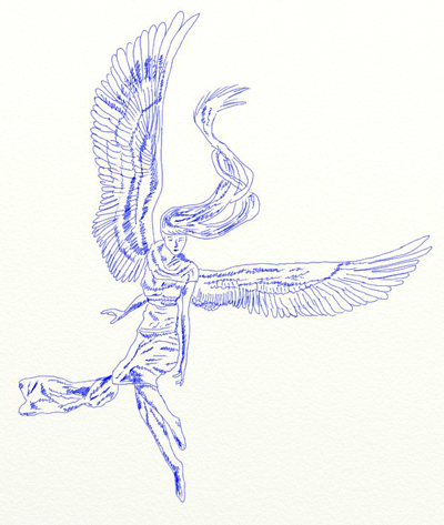 Как нарисовать ангела, шаг 6