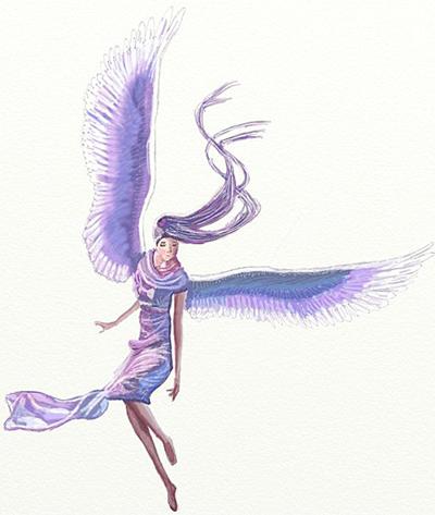 Как нарисовать ангела, шаг 7