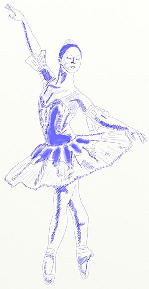 Как нарисовать балерину, шаг 6