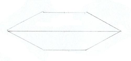 Как нарисовать губы человека, шаг 2
