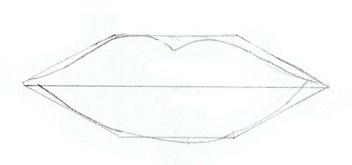 Как нарисовать глаза человека, шаг 3