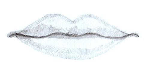 Как нарисовать губы человека, шаг 5