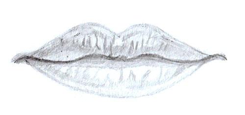 Как нарисовать губы человека, шаг 6