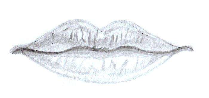 Как нарисовать губы человека поэтапно