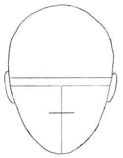 Как нарисовать портрет, шаг 2