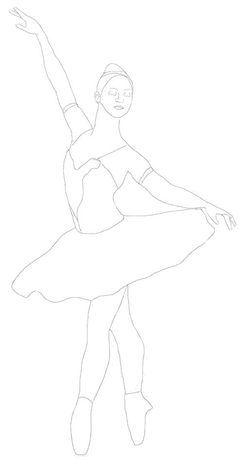 Раскраска балерину