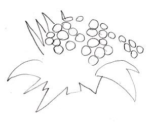Как рисовать цветы, шаг 1