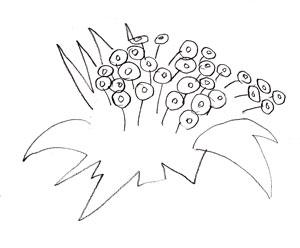 Как рисовать цветы, шаг 2