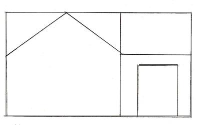 Как нарисовать дом, шаг 2