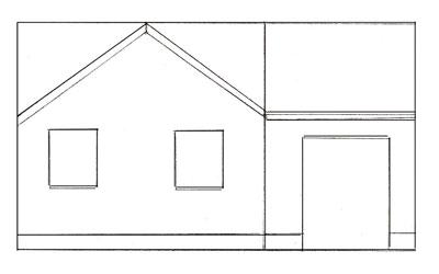 Как нарисовать дом, шаг 3