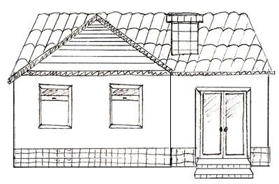 Как нарисовать дом, шаг 5