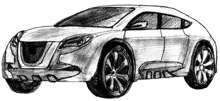 Как нарисовать машину, шаг 6