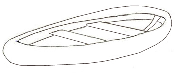 Как нарисовать лодку, шаг 2