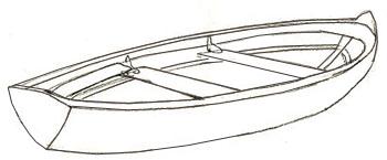 Как нарисовать лодку, шаг 3