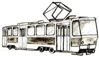 Рисунок Трамвая
