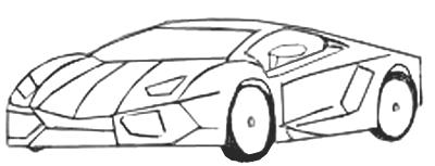 Как нарисовать спортивную машину, шаг 5