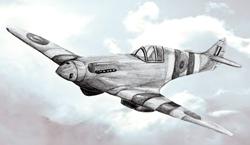 Рисунок военного истребителя